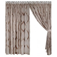Day Curtain with flock design (sells in a pair)