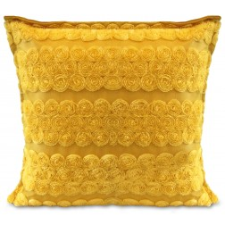 ROSETTE CUSHION COVER - GOLD