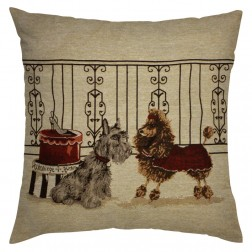 TERRIER & POODLE CUSHION COVER