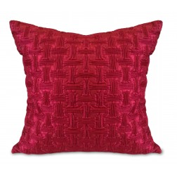 QUILTED CUSHION COVER - MAROON