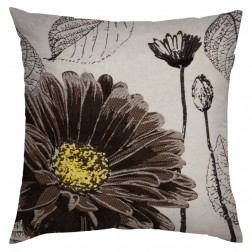 GREY SUNFLOWER CUSHION COVER