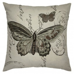 GREY BUTTERFLY CUSHION COVER